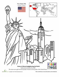 Worksheets: New York City Coloring Page
