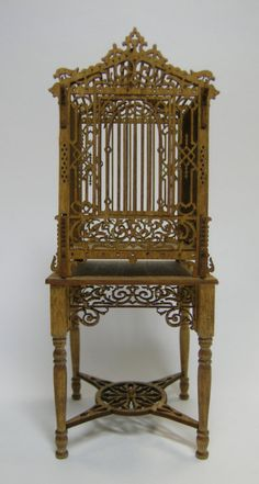Victorian Birdcage and Table Kits : Miniature Dollhouse Kits & Accessories Victorian Furniture, Victorian Decor, Victorian Era, Vintage Furniture, Furniture Design, Dollhouse Kits, Dollhouse Miniatures, Antique Bird Cages, The Caged Bird Sings