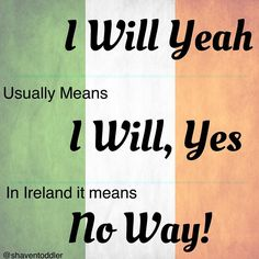 Understanding Irish people: lesson 1