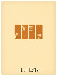The Fifth Element (1997) ~ Minimal Movie Poster by Pramod Mahanand #amusementphile