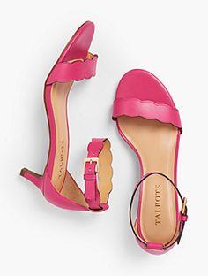 2dab8071669 Pila Kitten-Heel Sandals - Vachetta Leather Kitten Heel Sandals
