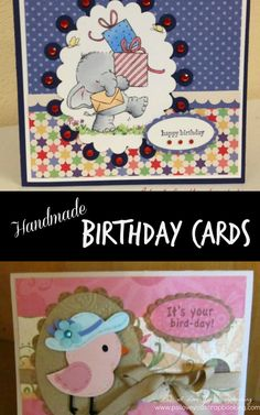 Making Handmade Birthday Cards is so rewarding. There are tons of great supplies and techniques to choose from. Your friends and family will be thrilled when you send them a handmade greeting card. I need to start making birthday cards for my family! Card Making Tutorials, Card Making Techniques, Making Greeting Cards, Greeting Cards Handmade, Cricut Cards, Stampin Up Cards, Crafts For Teens, Fun Crafts, Handmade Birthday Cards
