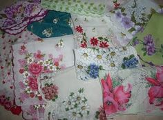 Vintage Hankies  (Have lot of these from my mom & grandmothers)