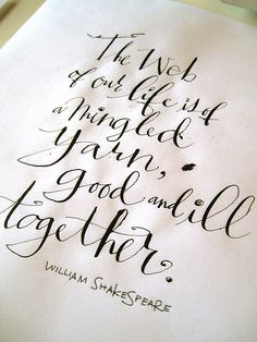 Hand Lettered Quote by TagTeamTompkins, via Flickr