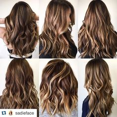 #Repost @sadieface ・・・ •The Lighter Side of Brunette• Going lighter takes time. But sometimes full blown blonde is not the answer. Adding highlights can soften up a rich color by adding dimension and movement without washing you out ✨