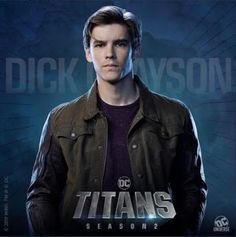 DC Universe has released four new character posters for Titans' upcoming second season, featuring Dick Grayson, Starfire, Raven, Hawk and Dove. Batgirl, Nightwing, Alan Ritchson, Minka Kelly, Teen Titans Go, Dc Comics Art, Batman Comics, Batman Poster, Tim Drake