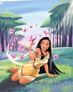Pocahontas reimagined in bright digital fan art artwork deviantart