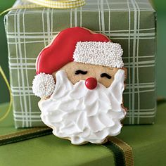 These decorated Santa sugar cookies are fun to make and eat.