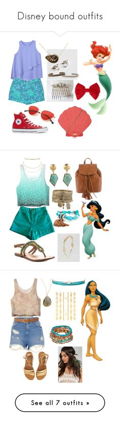 """""""Disney bound outfits"""" by noworneverbabe on Polyvore featuring Banana Republic, MANGO, Amanda Coleman, Disney, Converse, Skinnydip, Forever 21, American Apparel, Aqua and Naughty Monkey"""