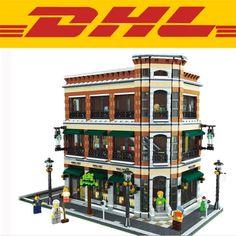 (143.78$)  Watch here  - 2017 New LEPIN 15017 4616Pcs Creator Starbucks Cafe Bookstore Model Building Kits Blocks Bricks fun Toys for children  Gift