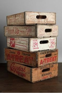 Vintage crates #UrbanOutfitters