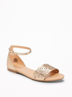 Old Navy Laser-Cut Peep-Toe Sandals for Women Cheap Womens Shoes, Cute Slippers, Shoe Deals, Buy Shoes Online, Cute Shoes, Women's Shoes, Trendy Shoes, Spring Shoes, Shoes
