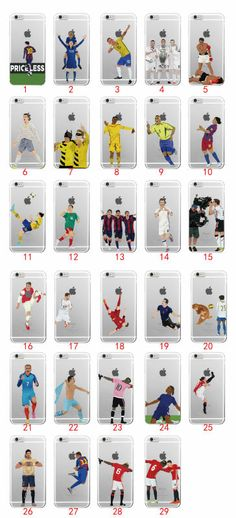 Aliexpress.com : Buy Sport Football Soccer Star Cristiano Ronaldo Messi Soft TPU Phone Case Coque Fundas For iPhone 7 7Plus 6 6S 5 5S SE 5C 4 4S from Reliable phone sleeve case suppliers on Joan Sweety Phone Cases Store