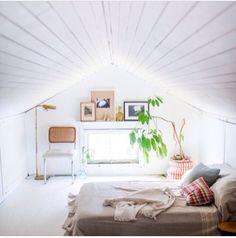 White attic room. Cozier.