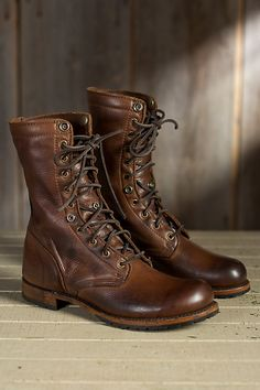 Men's Walk-Over Ian Fold-Over Leather Jump Boots | Overland
