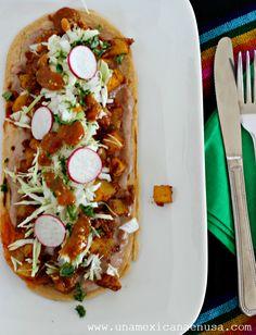 Huaraches de Papas con chorizo, delicioso platillo Mexicano. by www.unamexicanaenusa.com