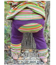 I LOVE this pattern for Maxaloones! They are a must have for any little fluffy butt! This pattern is for pants that fit from 6mo-5 years old! Think of how much money you save!