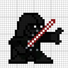 Darth Vader Perler Bead Pattern Minecraft Quilt, Minecraft Pixel Art, Bead Patterns, Cross Stitch Patterns, Minecraft Templates, 8 Bits, Pixel Pattern, Perler Bead Art, Little Critter
