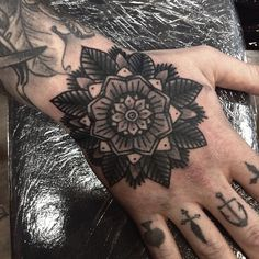 Cal Jenx as featured on Swallows & Daggers. www.swallowsndaggers.com #tattoo #tattoos #mandala