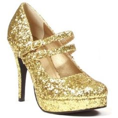 All that glitters is gold, so bring some extra twinkle to your toes wearing these Glitter Gold Mary Jane Shoes with Heels. These sparkly gold heels have a hidden platform and a unique doub… Gold Glitter Shoes, Glitter High Heels, Sparkly Heels, Gold Shoes, Stiletto Heels, Silver Glitter, Women's Shoes, High Shoes, Shoe Deals