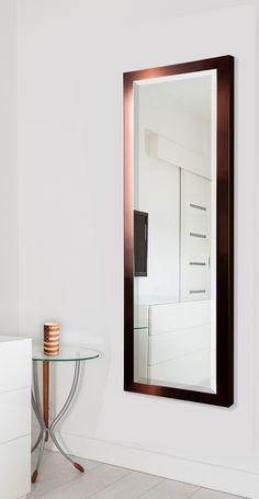 Jovie Jane Shiny Bronze Full Length Beveled Body Mirror
