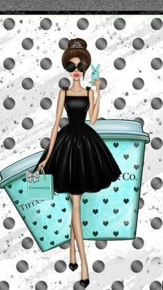 Breakfast at tiffanys wallpaper fashion illustrations 62 new ideas Tiffany And Co, Tiffany Blue, Tiffany Art, Girl Wallpaper, Iphone Wallpaper, Chanel Art, Chanel Decor, Arte Fashion, Megan Hess