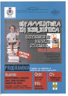UN'AVVENTURA IN BIBLIOTECA » Rete Bibliotecaria Bresciana e Cremonese