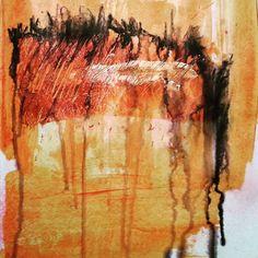 interference red #artjournal #visualjournal #studio