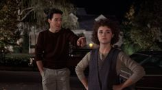 """John Cusack, Diane Franklin, Better Off Dead. """"You big faker! 80s Movies, Great Movies, Movie Tv, Better Off Dead, Emilio Estevez, Brat Pack, The Breakfast Club, Celebrity Pictures, Movies And Tv Shows"""