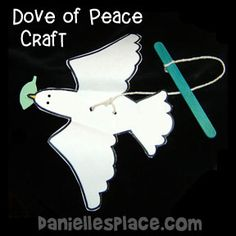 Dove of Peace Paper Craft for Children's Ministry