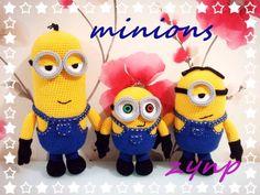 Amigurumi Minion Tarifi : Amigurumi minion modeli yapımı amigurumi and crochet