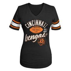 Cincinnati #Bengals Women's Glitter Gel V-neck Football Tee. Click to order! - $34.99