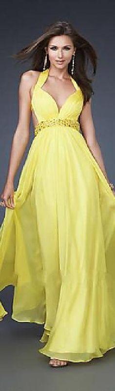 Sexy A-Line Natural Sleeveless Halter Long Evening Dress jijidresses32541wauho #promdress
