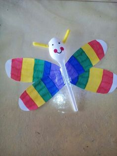A dragonfly made with a spoon