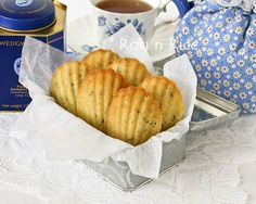 Lavender Madeleines - Guest Post by Roti n Rice • Just One Cookbook