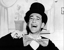 Soupy Sales (January 8, 1926 – October 22, 2009)[3] was an American comedian, actor, radio-TV personality and host, and jazz aficionado.[5] He was best known for his local and network children's television show, Lunch with Soupy Sales; a series of comedy sketches frequently ending with Sales receiving a pie in the face, which became his trademark.  From 1968 to 1975, he was a regular panelist on the syndicated revival of What's My Line? and appeared on several other TV game shows...