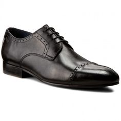 Półbuty JOOP! - Itanos 4140003398 Black 900 Pep Guardiola Style, Men Dress, Dress Shoes, Oxford Shoes, Lace Up, Black, Fashion, Moda, Black People