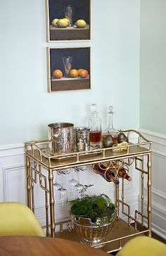 Society Social Official Photography | The Stanton Bar Cart in Gold