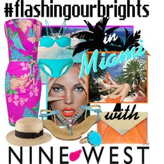 #flashingourbrights in Miami with @NINEWEST, created by minniesoda