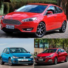 Ford Focus: hatch médio mais vendido no Brasil Ainda sobre o balanço de vendas de 2016 vamos destacar o modelo mais vendido entre os hatches médios no Brasil: Ford Focus emplacou 6.766 unidades no ano passado superando com folga o Volkswagen Golf que teve 5.966. O terceiro lugar ficou com o Cruze que teve 3.587 unidades vendidas. Números são da Fenabrave. Vale ressaltar que esse número reflete as vendas da versão antiga (o da foto é o modelo 2017). Será que teremos novidades neste ano?…