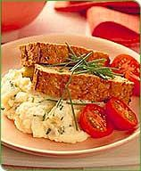 Meatloaf with Chive Mashed Potatoes