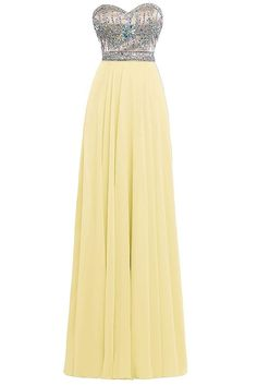 ORIENT BRIDE Generous Sweetheart Crystal Floor-length Evening Party Prom Dress Size 24W US Daffodil