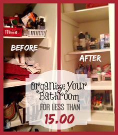 Check out these simple bathroom organization tips that takes less than 15.00!