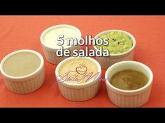 5 Molhos para Salada [da série: Cinco Vezes Mais Saudável - Episódio 05]
