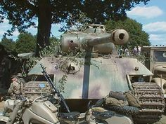 German WW2 Panther Tank or Panzer V at the War & Peace Show