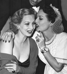 """Ann Sothern and Joan Crawford. """"See me in my dressing room later. No isn't an option darling."""""""