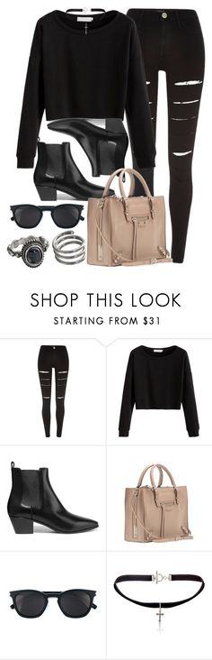 """Style #11359"" by vany-alvarado ❤ liked on Polyvore featuring River Island, Yves Saint Laurent, Balenciaga and Mudd"