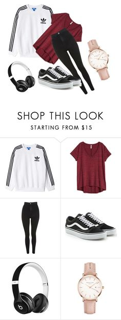 """""""Autumn in London - My style #1"""" by anitaviolakovacs on Polyvore featuring adidas Originals, Topshop, Vans, Beats by Dr. Dre and ROSEFIELD"""