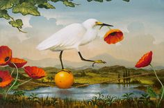 kevin sloan. | Kevin Sloan | American Magical Realism painter | The Golden Garden