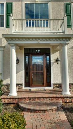 Installed by Chapman Windows, Doors & Siding. Grand Entrance, Windows, Doors, Mansions, House Styles, Home Decor, Decoration Home, Room Decor, Villas